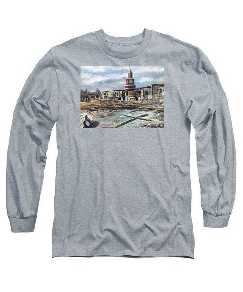 Long Sleeve T-Shirt featuring the painting Union University Jackson Tennessee 7 02 P M by Randol Burns