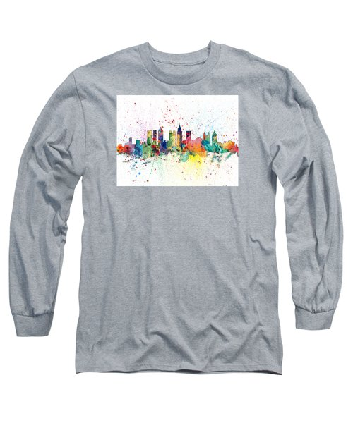 Atlanta Georgia Skyline Long Sleeve T-Shirt