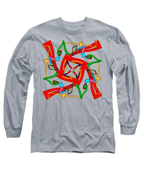 11210 Seven - 7 - Sieben - Sept - Siete - Septem - Isikhombisa - Soch - Vii Long Sleeve T-Shirt