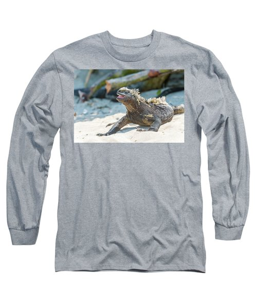 Marine Iguana On Galapagos Islands Long Sleeve T-Shirt