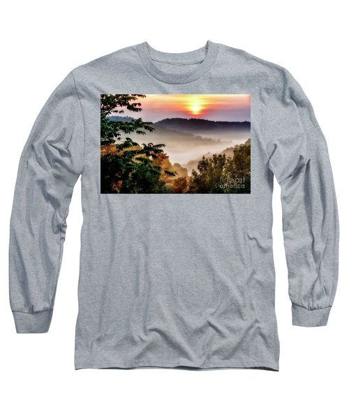 Mountain Sunrise Long Sleeve T-Shirt by Thomas R Fletcher
