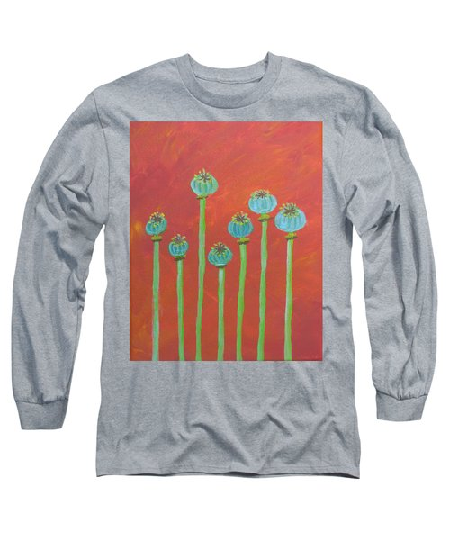7 Poppy Seed Pods Long Sleeve T-Shirt