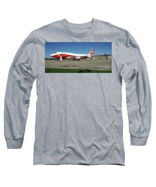Long Sleeve T-Shirt featuring the photograph 747 Supertanker by Bill Gabbert