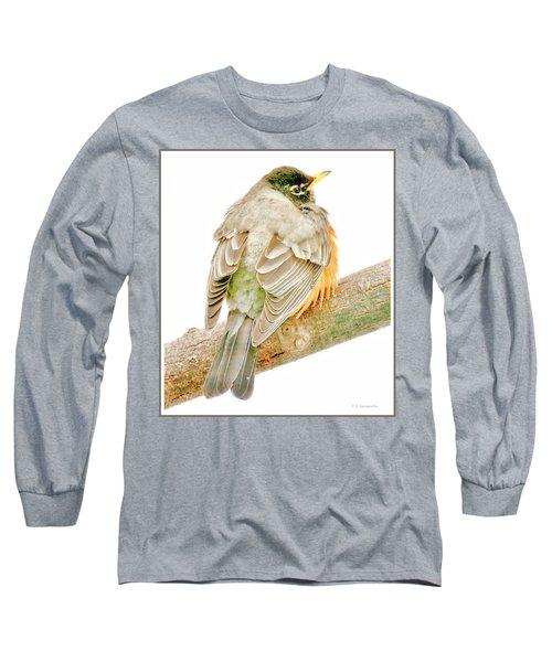 American Robin Male, Animal Portrait Long Sleeve T-Shirt