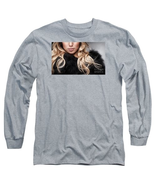 Fashion Woman Portrait Long Sleeve T-Shirt