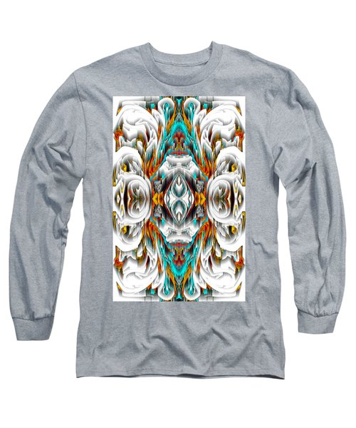 Long Sleeve T-Shirt featuring the digital art 992.042212mirror2ornategold-1-a by Kris Haas