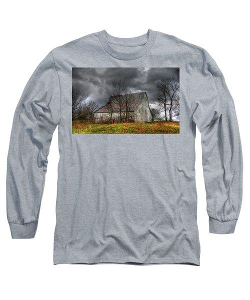 A Barn In The Storm 3 Long Sleeve T-Shirt by Karen McKenzie McAdoo