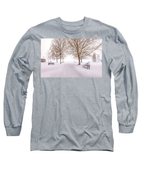 Long Sleeve T-Shirt featuring the photograph A Beautiful Winter's Morning  by John Poon