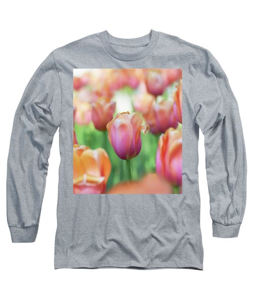 A Bed Of Tulips Is A Feast For The Eyes. Long Sleeve T-Shirt