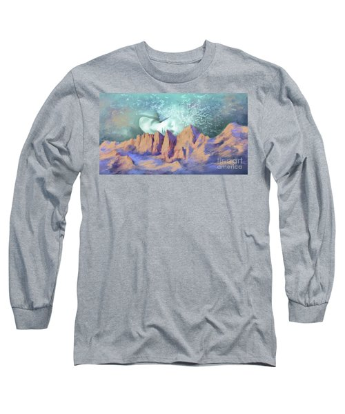 Long Sleeve T-Shirt featuring the painting A Breath Of Tranquility by S G