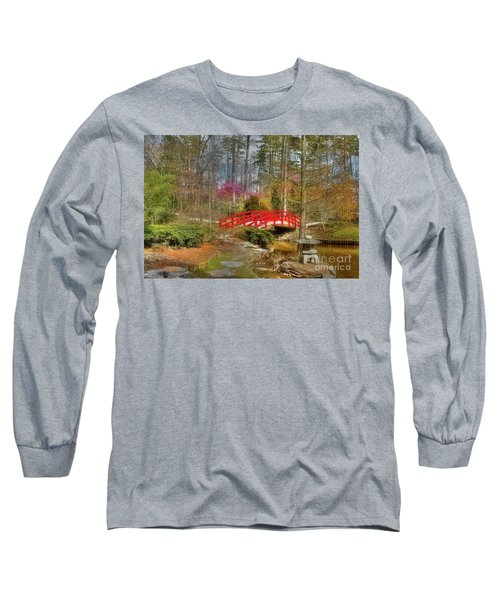 A Bridge To Spring Long Sleeve T-Shirt by Benanne Stiens