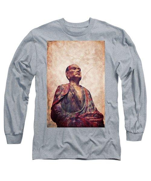 Buddha 5 Long Sleeve T-Shirt by Lynn Sprowl