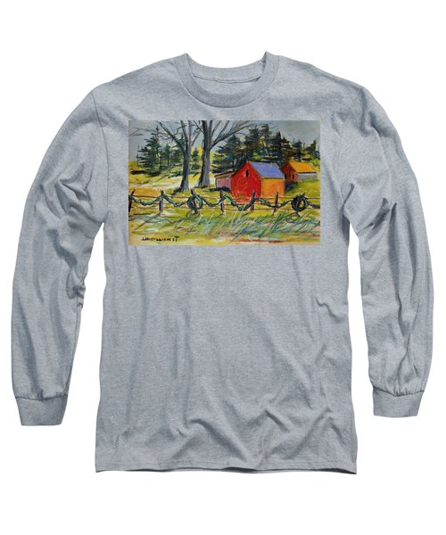 Long Sleeve T-Shirt featuring the painting A Change Of Season by John Williams