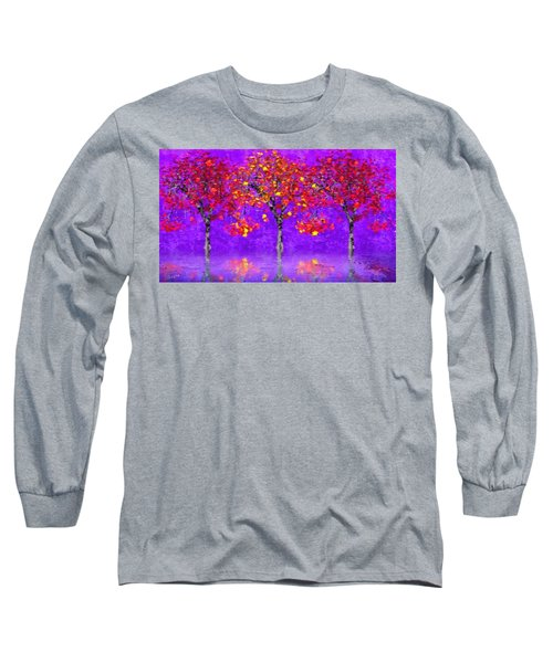 A Colorful Autumn Rainy Day Long Sleeve T-Shirt by Gabriella Weninger - David