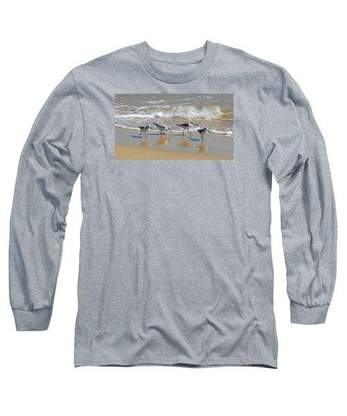 A Cute Quartet Of Sandpipers Long Sleeve T-Shirt