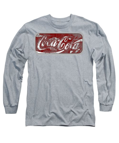 Coca Cola Red And Grey White Letters Sign With Transparent Background Long Sleeve T-Shirt