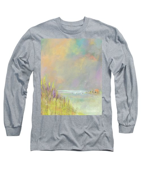 A Day At The Beach Long Sleeve T-Shirt by Frances Marino