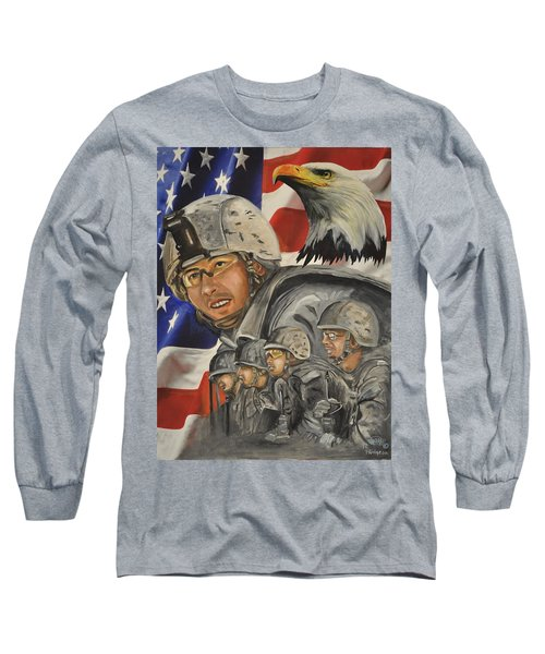 A Day At Work Long Sleeve T-Shirt by Ken Pridgeon