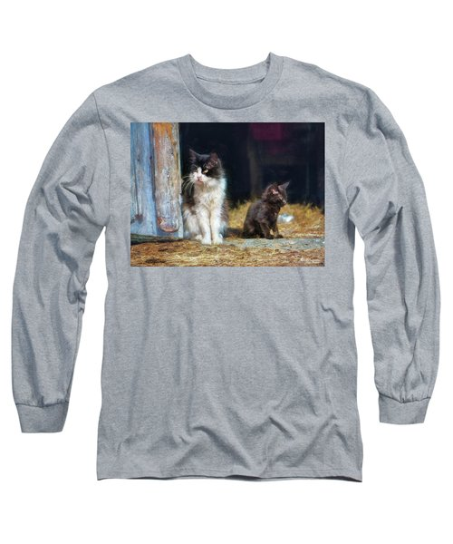 A Day In The Life Of A Barn Cat Long Sleeve T-Shirt