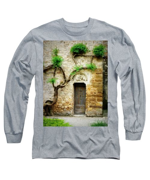 A Door In The Cloister Long Sleeve T-Shirt by Lainie Wrightson