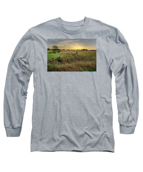 Long Sleeve T-Shirt featuring the photograph A Field Of Gold by Judy  Johnson