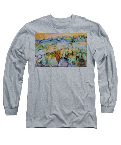 A Fine Day For Sailing Long Sleeve T-Shirt by Sharon Furner