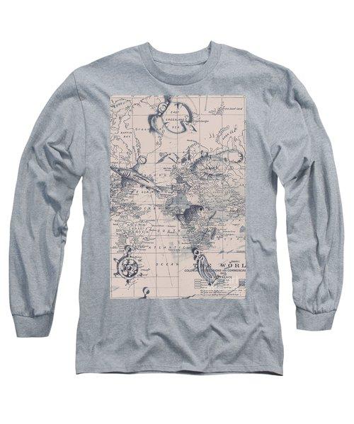 A Fishermans Map Long Sleeve T-Shirt