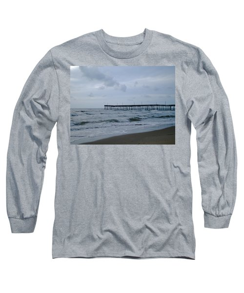 A Fishing Pier At Dawn Long Sleeve T-Shirt