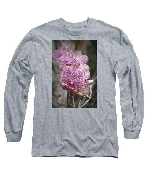A Flight Of Orchids Long Sleeve T-Shirt by Morris  McClung