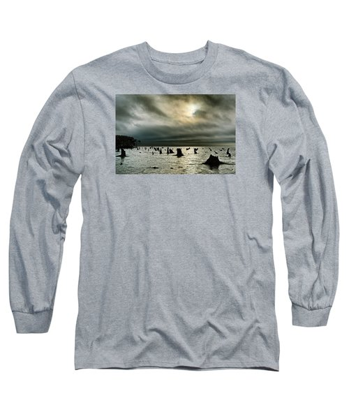 A Glimer Of Light Long Sleeve T-Shirt by Robert Charity