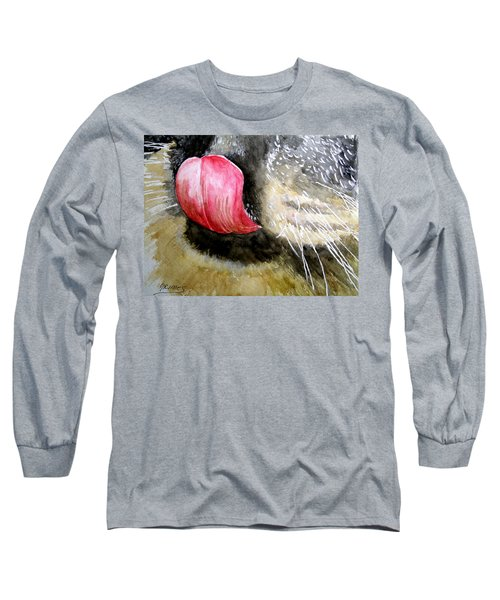 Long Sleeve T-Shirt featuring the painting A Good Lick  by Carol Grimes