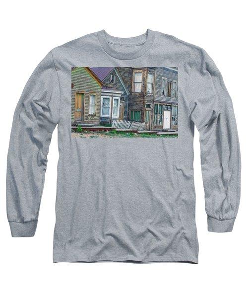 A Haimish Abode From A Bygone Era Long Sleeve T-Shirt by Bijan Pirnia
