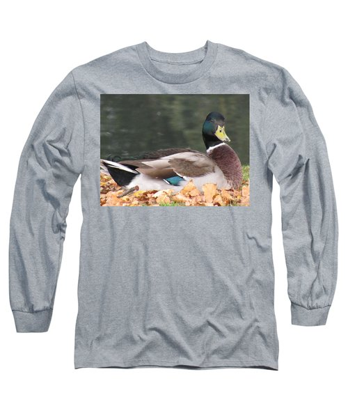 A Handsome Mallard Long Sleeve T-Shirt