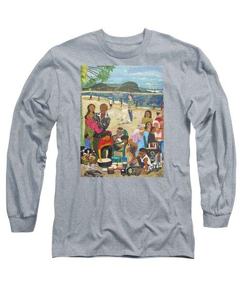 A Heavenly Day - Lumley Beach - Sierra Leone Long Sleeve T-Shirt by Mudiama Kammoh