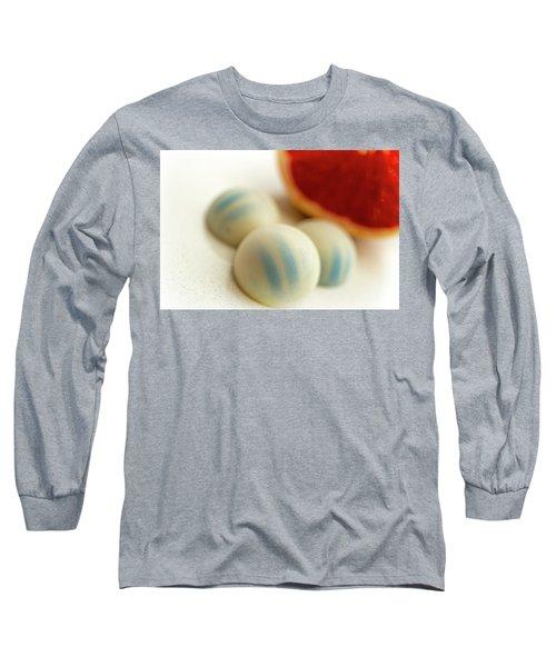 A Hint Of Grapefruit Long Sleeve T-Shirt by Sabine Edrissi