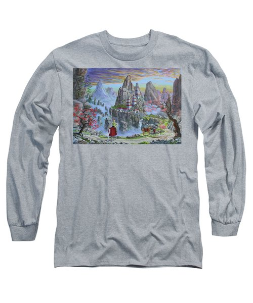 Long Sleeve T-Shirt featuring the painting A Journey's End by Anthony Lyon