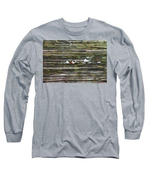 A Landscape With A Farm Long Sleeve T-Shirt