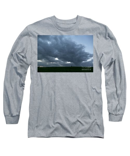 Long Sleeve T-Shirt featuring the photograph Alone In The Face Of The Storm by Arik Baltinester