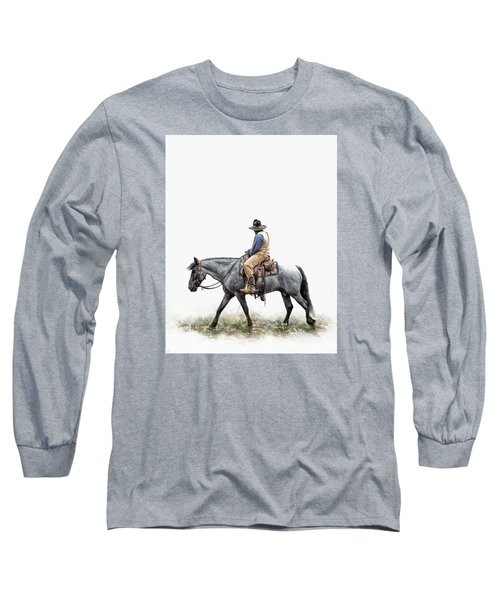 A Long Day On The Trail Long Sleeve T-Shirt by David and Carol Kelly