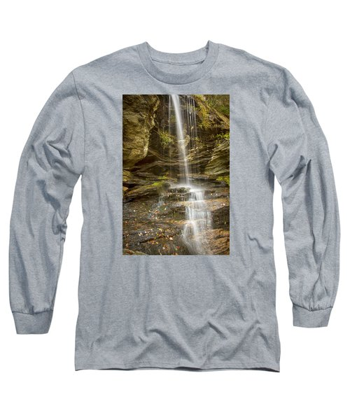 Long Sleeve T-Shirt featuring the photograph A Look At Window Falls by Bob Decker