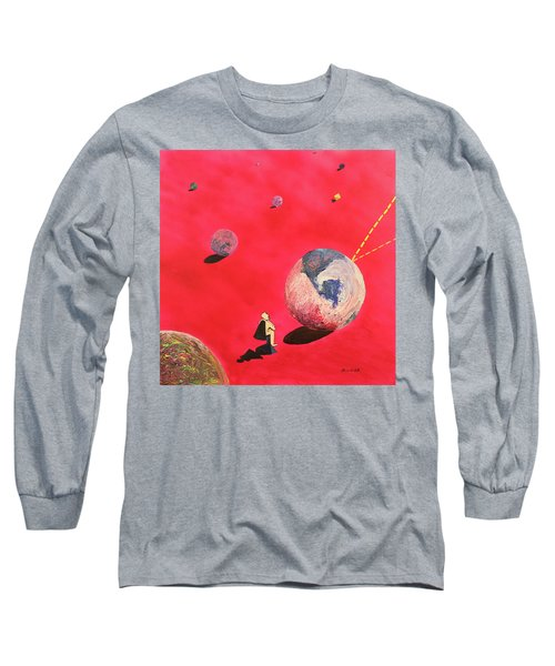 A Lot To Think About Long Sleeve T-Shirt by Thomas Blood