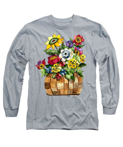 A Lovely Basket Of Flowers Long Sleeve T-Shirt