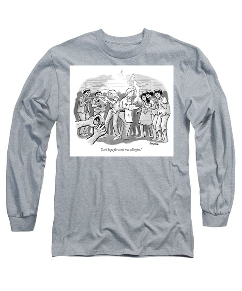 A Man And A Woman Stand In The Middle Of A Horde Long Sleeve T-Shirt