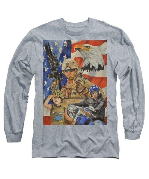 A Marine's Marine Long Sleeve T-Shirt by Ken Pridgeon