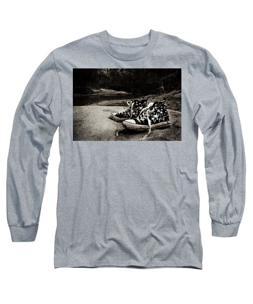 Long Sleeve T-Shirt featuring the photograph A Mile In My Shoes by Jessica Brawley