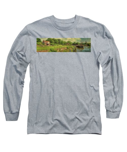 Long Sleeve T-Shirt featuring the photograph A Morning At Teddington Lock by Leigh Kemp