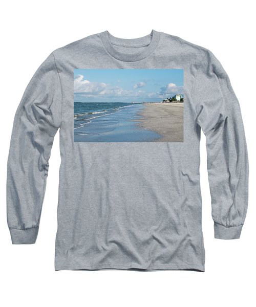 A Morning Walk On Fort Myers Beach Fort Myers Florida Long Sleeve T-Shirt