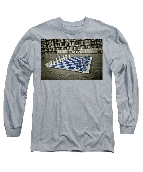 Long Sleeve T-Shirt featuring the photograph A Nice Game Of Chess by Lewis Mann