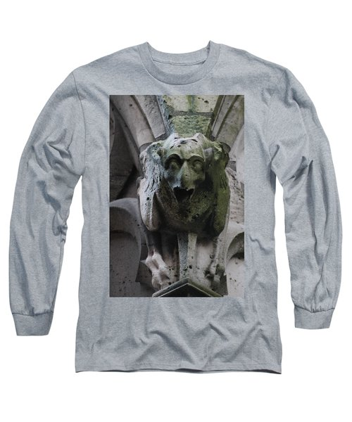 Long Sleeve T-Shirt featuring the photograph A Notre Dame Griffon by Christopher Kirby