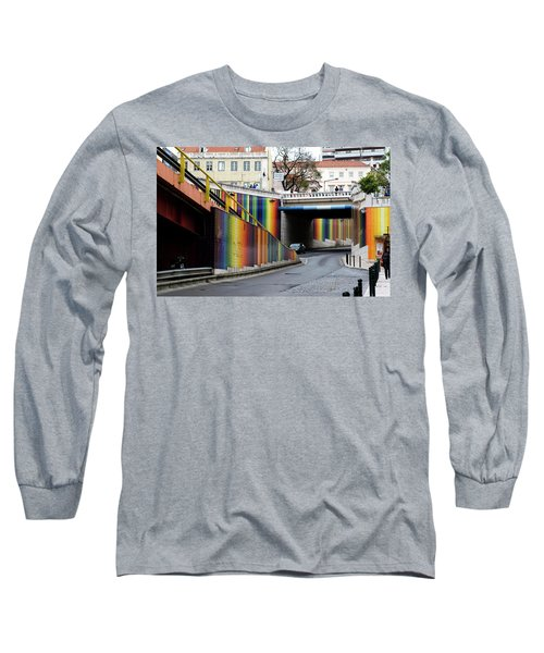 Long Sleeve T-Shirt featuring the photograph A Throughway Of Many Colors by Lorraine Devon Wilke